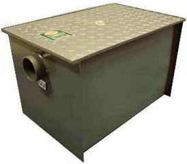 Gravity grease trap, Atlantic Metalworks, formerly Prima Stainless Steel Supply www.primasupply.com
