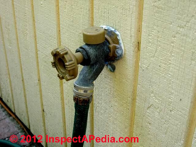Faucets Sill cocks Hose Bibbs hose hook ups types