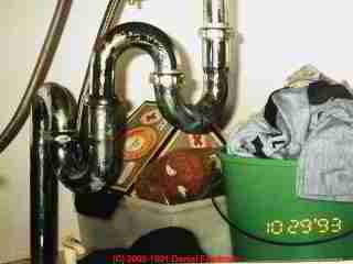 Photograph of a multi-S-trap plumbing fiasco