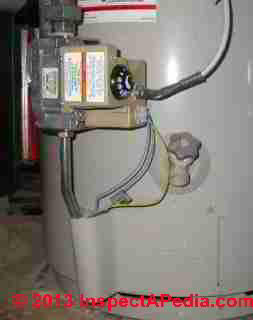 Pilotless ignition gas fired water heater control (C) Daniel Friedman A O Smith water heaters