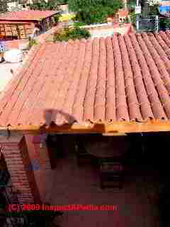 Low slope clay tile roof leaks (C) Daniel Friedman