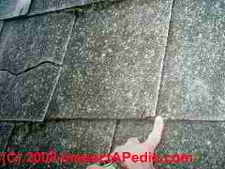 Cement asbestos roof shingles