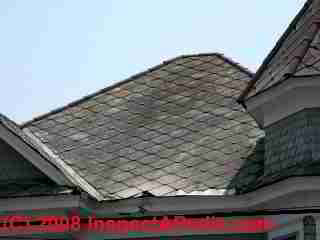 Cement asbestos roof shingles (C) Daniel Friedman