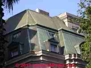 Copper Metal roofing examples (C) Daniel Friedman