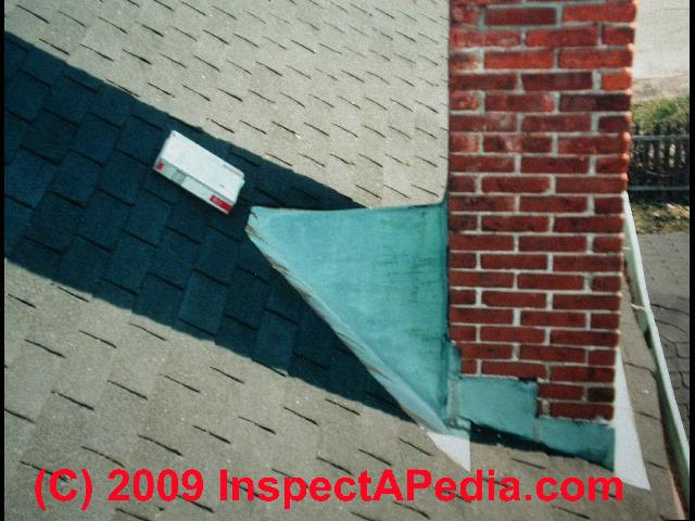 Chimney Flashing leaks, defects, Inspection at the Rooftop ...