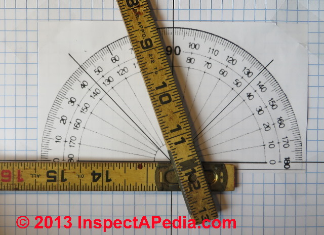 Calibration of Folding Ruler Scale to Read Roof Slopes