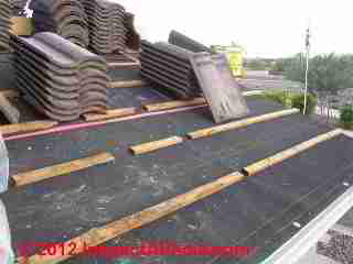 Clay tile roof battens (C) D Friedman