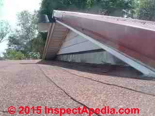 Roof wall flashing details (C) InspectApedia CP