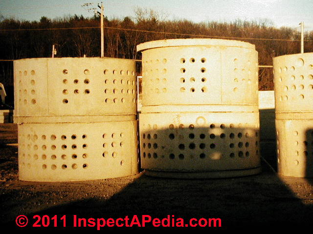 Tank and septic system drainfield or soakaway bed design septic tank