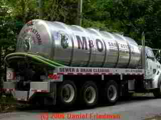 PHOTO of a modern septic tank pumping truck