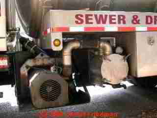 PHOTO of opening the septic pumper truck vacuum pump motor and controls