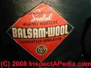 photo of balsam wool building insulation