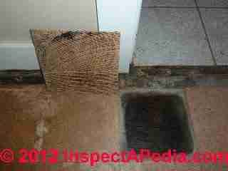 Asbestos containing vinyl asbestos floor tiles