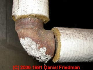 Photograph of  Amateur incomplete cleaning of asbestos on a