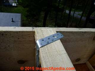 Simpson Strong Tie Connector for I-Joists © D Friedman at InspectApedia.com