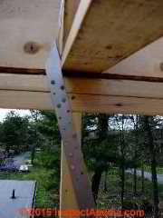I Joist strap connections © D Friedman at InspectApedia.com