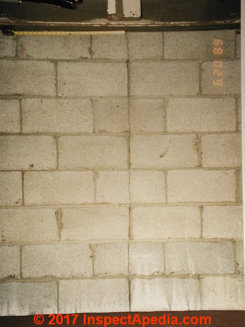 Vertical cracks in concrete block walls for Block wall foundation