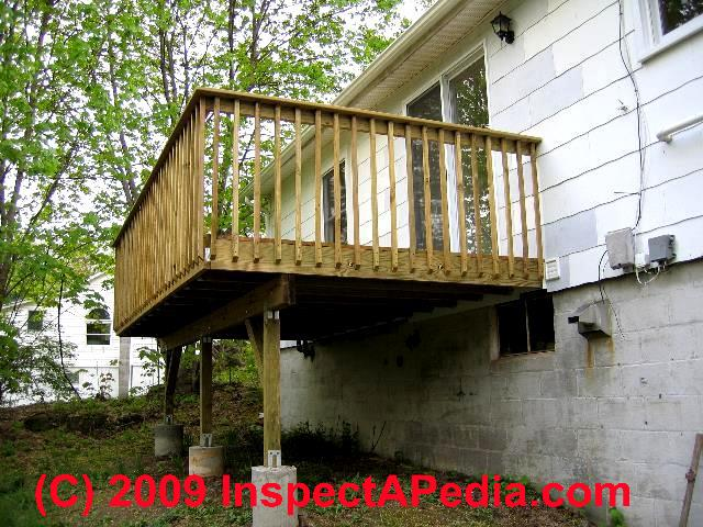 Wood Deck Railing Construction