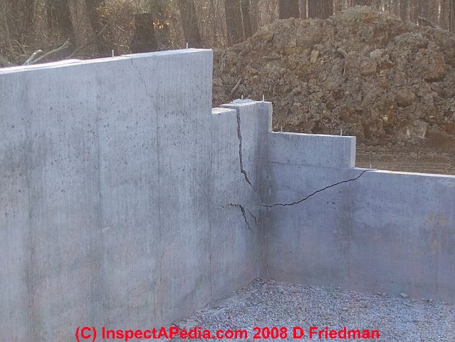 New concrete foundation or slab freeze damage Foundation pouring