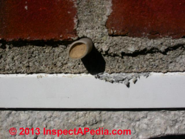Weep Holes Drainage Amp Moisture Ventilation In Brick Walls