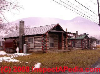 Antique log home Susquehanna River Pennsylvania