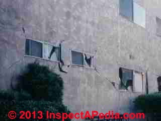 Northridge Earthquake 1994 exterior wall damage © Daniel Friedman