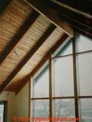 Roof framing definition of collar ties rafter ties for Cathedral ceiling trusses