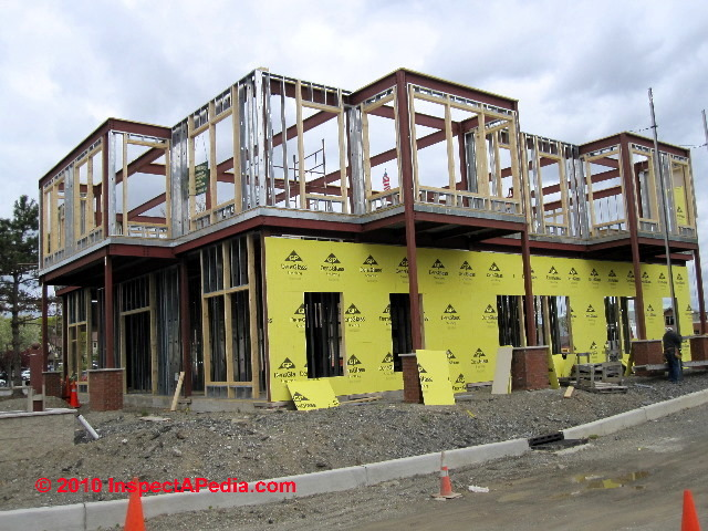 metal stud framed building under construction freedom plains ny c daniel friedman