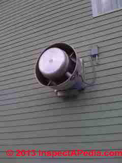 Kitchen exhaust fan also ejects bugs (C) Daniel Friedman