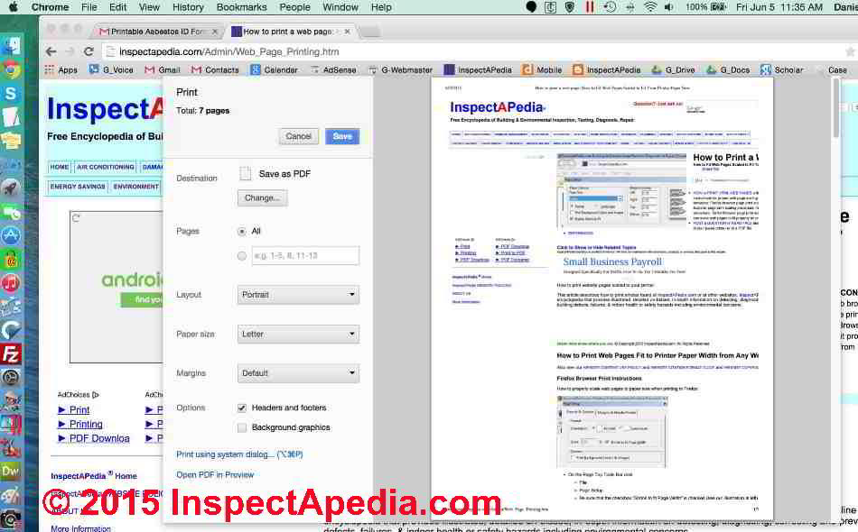 how to search on a web page mac