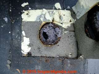 Lint-clogged rooftop dryer vent duct (C) Daniel Friedman