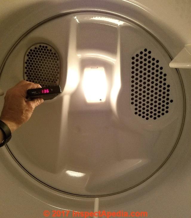 Clothes dryer dryer vent temperature measurements clothes dryer temperature measurements c daniel friedman fandeluxe Images