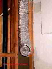 Mylar plastic dryer vent duct (C) D Friedman