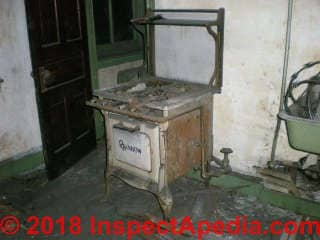 Antique Rainbow gas stove (C) InspectApedia