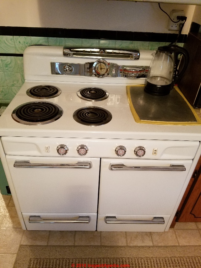 Moffat Electric Range Repair, History, Components, Parts on