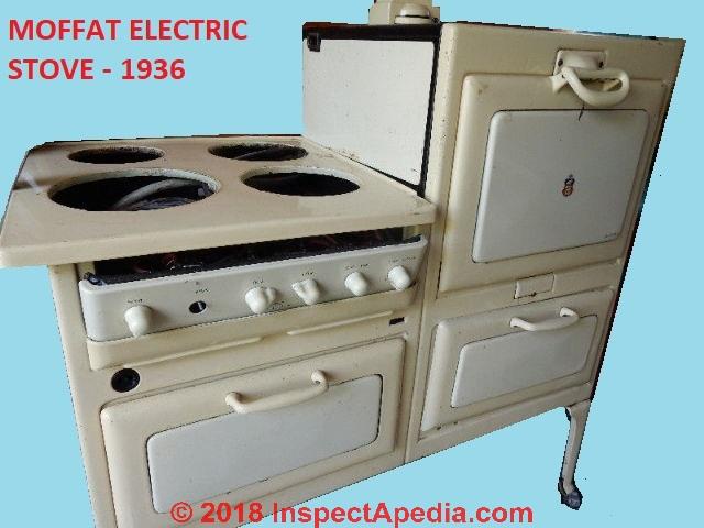 Moffat Electric Range Repair, History, Components, Parts