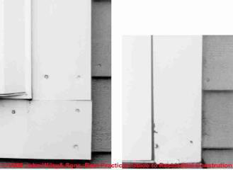 Figure 1-32: Water Damaged Hardboard Building Trim (C) Wiley and Sons, S Bliss