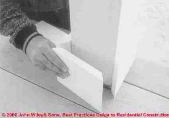 Installing vinyl building trim (C) Wiley and Sons, S Bliss