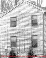 Figure 1-9 Siding stains due to nailing (C) Wiley and Sons - S Bliss