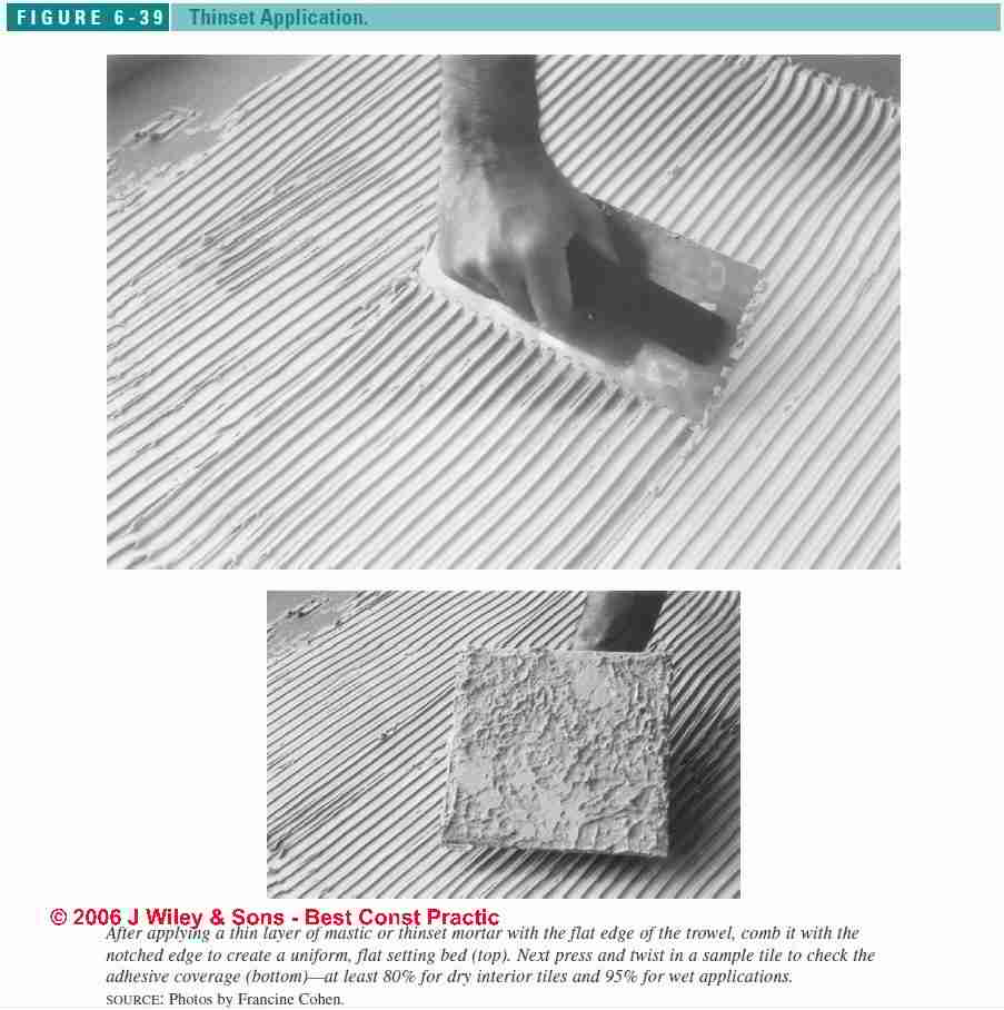 Guide to floor tile setting compounds cements mastics adhesives figure 6 36 ceramic tile setting compound guide c j wiley s dailygadgetfo Choice Image