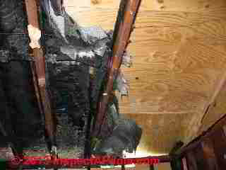 Chimney fire damage to a home (C) Daniel Friedman