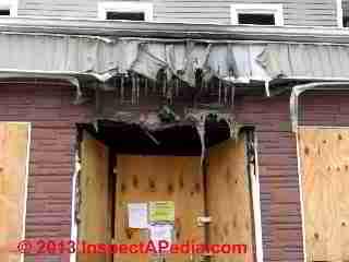 Fire Amp Heating Flue Damaged Vinyl Siding