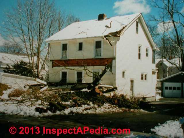 Windstorm Caused Tree Damaged Home C Daniel Friedman
