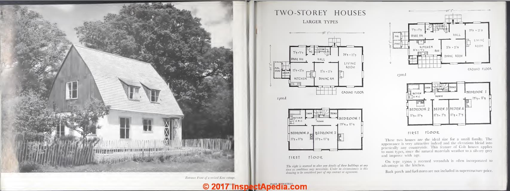 Guide to manufacturers of kit houses how to identify an for Houseplans bhg com