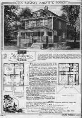 Photograph of a Sears Kit House catalog page showing the Fullerton.
