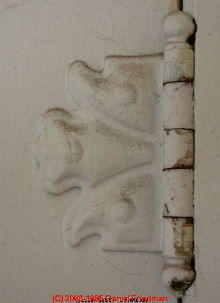 Photograph of porch column details on a Sears catalog house