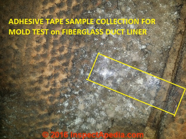 Test for mold in hvac ductwork and air handlers how to test for mold on fiberglass hvac duct interior surfaces tape sampling fandeluxe Image collections
