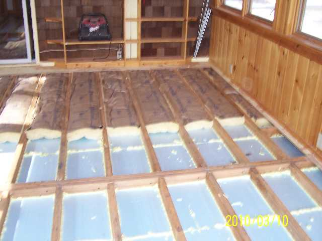 Insulating my shed floor my shed rental plastic sheds for Cold floor insulation