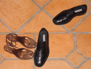 Photograph of tango shoes (C) Daniel Friedman