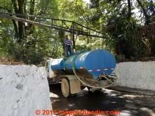 Water truck or pipa being filled from the Uruapan Mantantial (C) DanieL Friedman